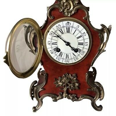 19th Century French Japy Frères Tortoiseshell Veneered Mantel Clock 3