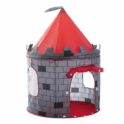 deAO Red Castle Pop up Play Tent Christmas Gift for Kids Children Playhouse 3