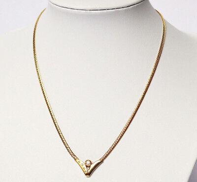 Collier Halskette Kette Goldkette 14 Kt. 585 Gold Gelbgold 12 g 5 Brillanten