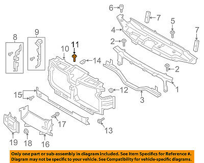 FORD OEM Radiator Core Support-Upper Tie Bar Support Right 9L8Z8B068A