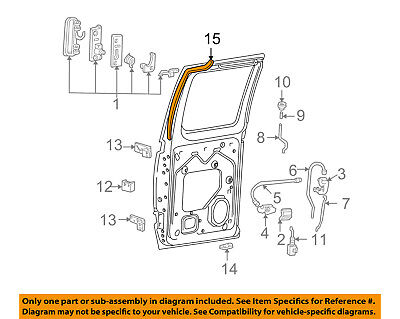 FORD OEM Side Sliding Door-Weatherstrip Seal 3C2Z15253A10AA