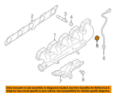 FORD OEM Exhaust-Front Muffler Nut W520103S403 2