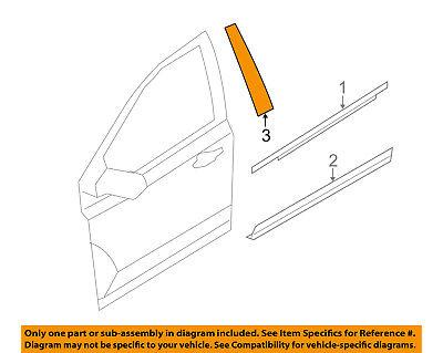 AUDI OEM 09-16 A4 Quattro Front Door-Applique Window Trim Left 8K0837901M5FQ