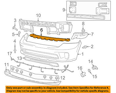 Ram CHRYSLER OEM 1500 Front Bumper-Side Retainer Outer Support Right 68104944AD