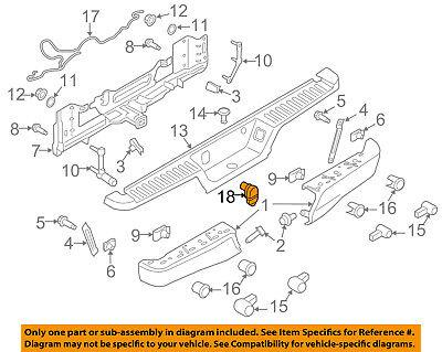 FORD OEM 15-18 F-150 Rear Bumper-Socket FU5Z14489A