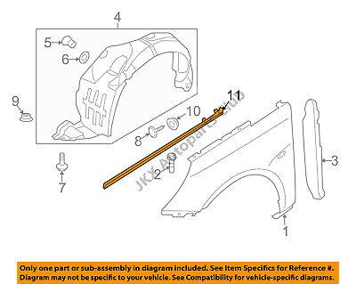 OEM Fender Chrome Molding LH Driver Side Upper Fender Trim For 2011-2014 Sonata