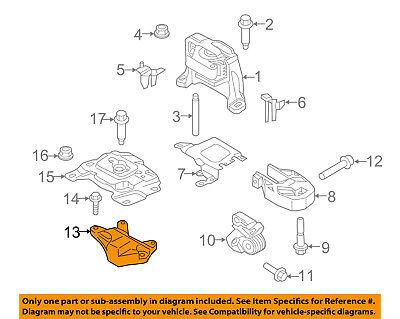 FORD OEM 11-16 Mustang Engine Motor Transmission-Support BR3Z6A023B