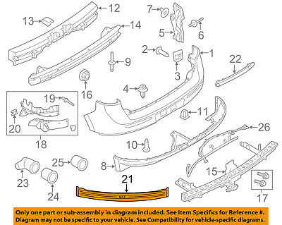 Lincoln FORD OEM 11-15 MKX Front Bumper-Outer Support Left BA1Z17C947B