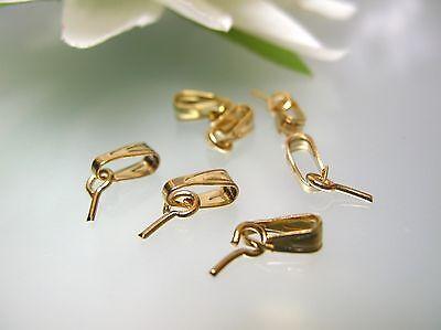 100pcs Brass Screw Peg Bails Eye Pins Half Drilled Findings Loop KC Gold 7x3mm