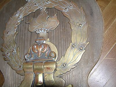 "Antique Brass Door Knocker Ornate 18""long X 8 7/8"" Wide Beautiful Patina 6"