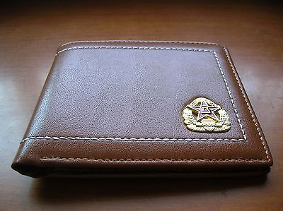 07's series China PLA Army Badge Officer Genuine Leather Wallet,AA 4