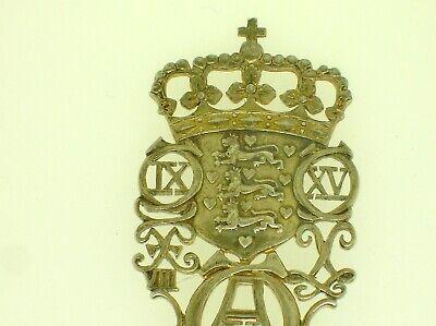 """Rare Denmark A. Michelsen Commemorative Spoon May 15, 1912 - 6"""" Long -48.3 Grams 3"""