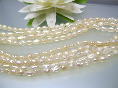 Vintage 3.5-4 x 5-6.5 mm rice crispy Japan freshwater pearl loose strand *Rare*