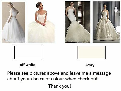 Wedding Veil *Fingertip Length*2 Tier*Wide Lace H* Ivory&off white* 7