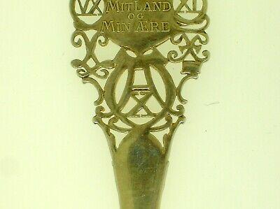"""Rare Denmark A. Michelsen Commemorative Spoon May 15, 1912 - 6"""" Long -48.3 Grams 6"""
