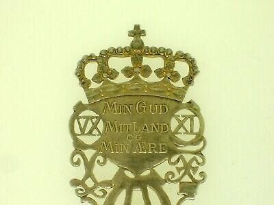 """Rare Denmark A. Michelsen Commemorative Spoon May 15, 1912 - 6"""" Long -48.3 Grams 5"""