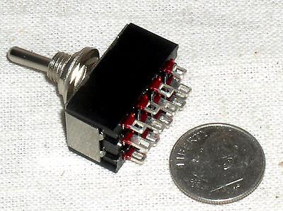 MINI TOGGLE 4PDT 4P2T On-Off-On 4 Multi Pole Switch 125V 6A Ac Dc ...