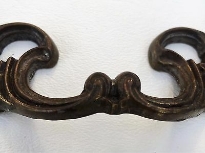 "Gorgeous Brass Antique Hardware Vintage Drawer Pull French Provincial 3""center"