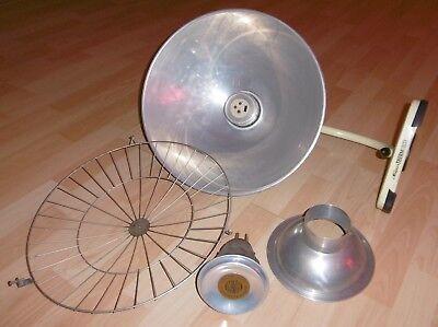 arzt tisch /wand lampe wärme alt top deko mint / gelb thermolite super 60 / 70er 2