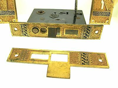 C.1883 Mansion Gilded Bronze Door Lock Set - Rare - Fantastic Quality - B. Offer 3