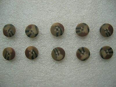 07's series China PLA Army Desert Camouflage Resin Buttons,10 Pcs,15mm