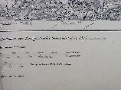DRESDEN - MEISSEN * Karte des DEUTSCHEN REICHES Umdruckausgabe 417 *~1920 /DN340