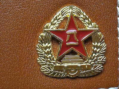 07's series China PLA Army Badge Officer Genuine Leather Wallet,AA 3