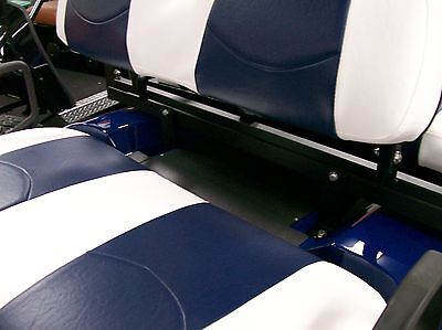 Club Car Precedent Golf Cart Custom Seat Covers Front And RearWhite Navy