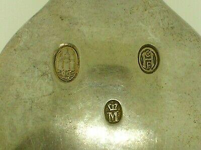 """Rare Denmark A. Michelsen Commemorative Spoon May 15, 1912 - 6"""" Long -48.3 Grams 7"""