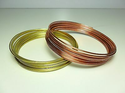 Filo Rame matassa mm 1 / 2 / 2,5 / 3 / 4 mm DIY Soft Copper wire jewels Hobby 5