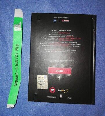 Ligabue Libretto ufficiale Campovolo 19/9/15 +biglietto+braccialetto+fazzoletto 2
