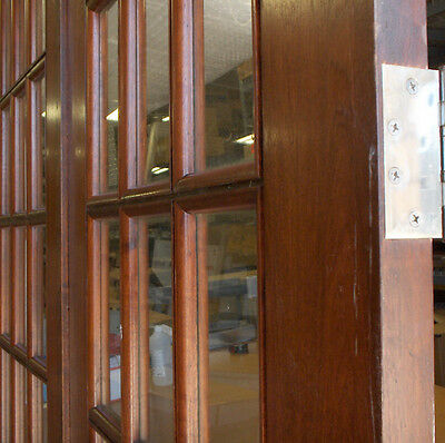 "1 Pair Mahogany & True Divided Glass Doors for 6'-0"" x 8'-4"" X 1 3/4""(72""x100"") 2"
