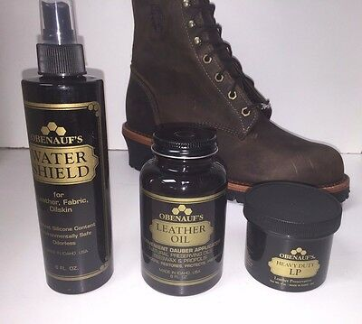 Obenauf's Heavy Duty Starter Package!  LP Leather Oil Water Shield USA MADE