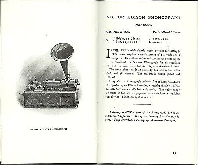 EDISON PHONOGRAPHS 1906 INTRODUCTION /& PRICE GUIDE ADVERTISEMENT BOOKLET 32 PGS.
