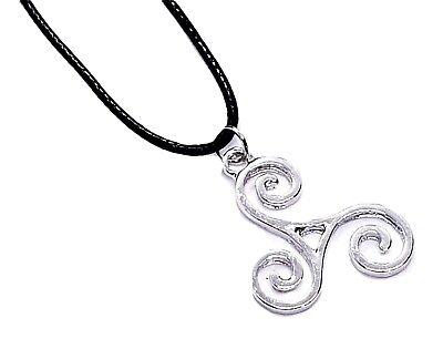 Triskele BDSM Symbol Pendant Kink Secret Symbol Cord Lace Necklace 2