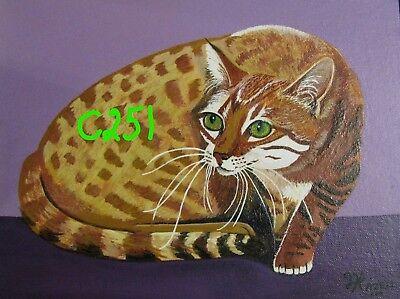 "C74  Original Acrylic Painting By Ljh   ""Minnie""   Cat 3"
