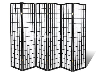 6 8 Panel Japanese Oriental Room Divider Privacy Wall Wood and
