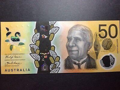 FIRST PREFIX -  2018 $50 note - New Generation AA18 UNC 2