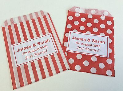 Personalised Candy Striped Polka Dot Sweet Candy Wedding Favour Birthday Bags 5