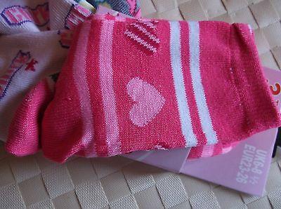 Brand>New>3 Pack>Multi>Colour>Sweet>Soft>Touch>Girls>Socks>Uk>Size 6-8.5 5