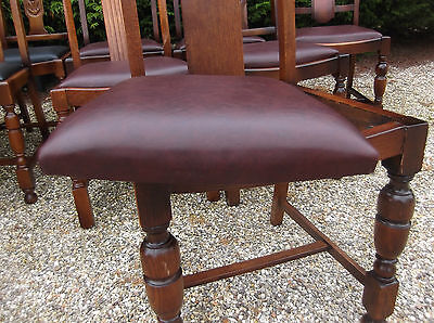 LARGE COLLECTION OF OAK 1920s DINING CHAIRS - IDEAL FOR PUBS, RESTAURANTS ETC 4
