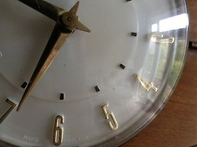 2 Metamec Mantel Clocks Spares Or Repair 1920-1950's Vintage Wood & Onyx 12