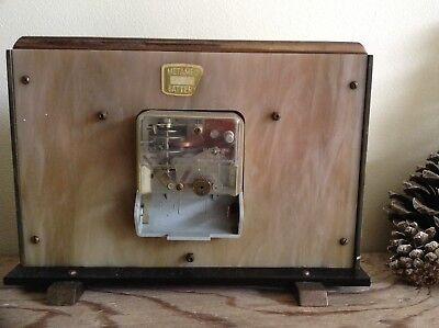 2 Metamec Mantel Clocks Spares Or Repair 1920-1950's Vintage Wood & Onyx 6