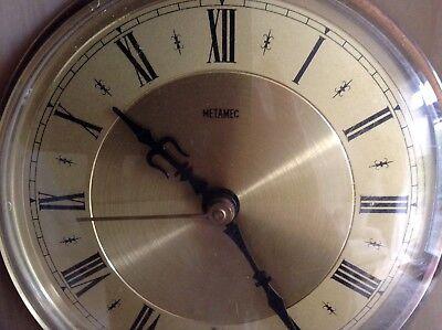 2 Metamec Mantel Clocks Spares Or Repair 1920-1950'S Vintage Wood & Onyx 9