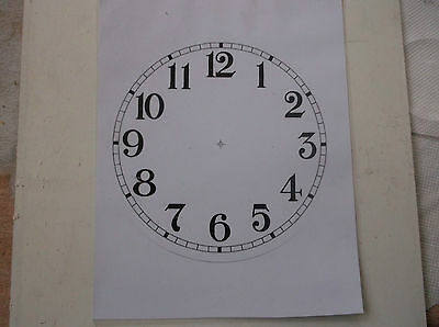 "Round Paper Laminated Clock Dial 6 1/2""DIAM  Gloss White-Face"