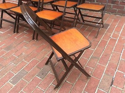 Peachy 8 Same Clarin Mfg Co Wood Metal Folding Chairs Very Good Bralicious Painted Fabric Chair Ideas Braliciousco