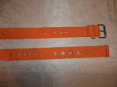 ORANGE Studded Jeweled Canvas BELT Girl's Size SMALL/MEDIUM 4