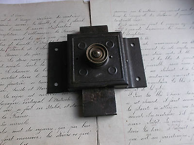 French antique solid iron door latch lock slide bolt authentic charm 2