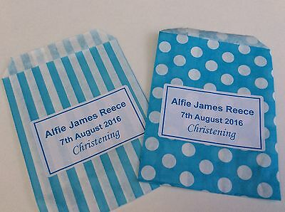 Personalised Candy Striped Polka Dot Sweet Candy Wedding Favour Birthday Bags 6