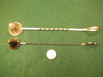 #1 of 2, EXCELLENT VTG ANT RANDAHL STERLING SILVER CANDLE SNUFFER, BARLEY TWIST 10